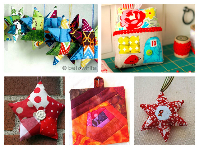 Favorite Fabric Ornament Tutorials