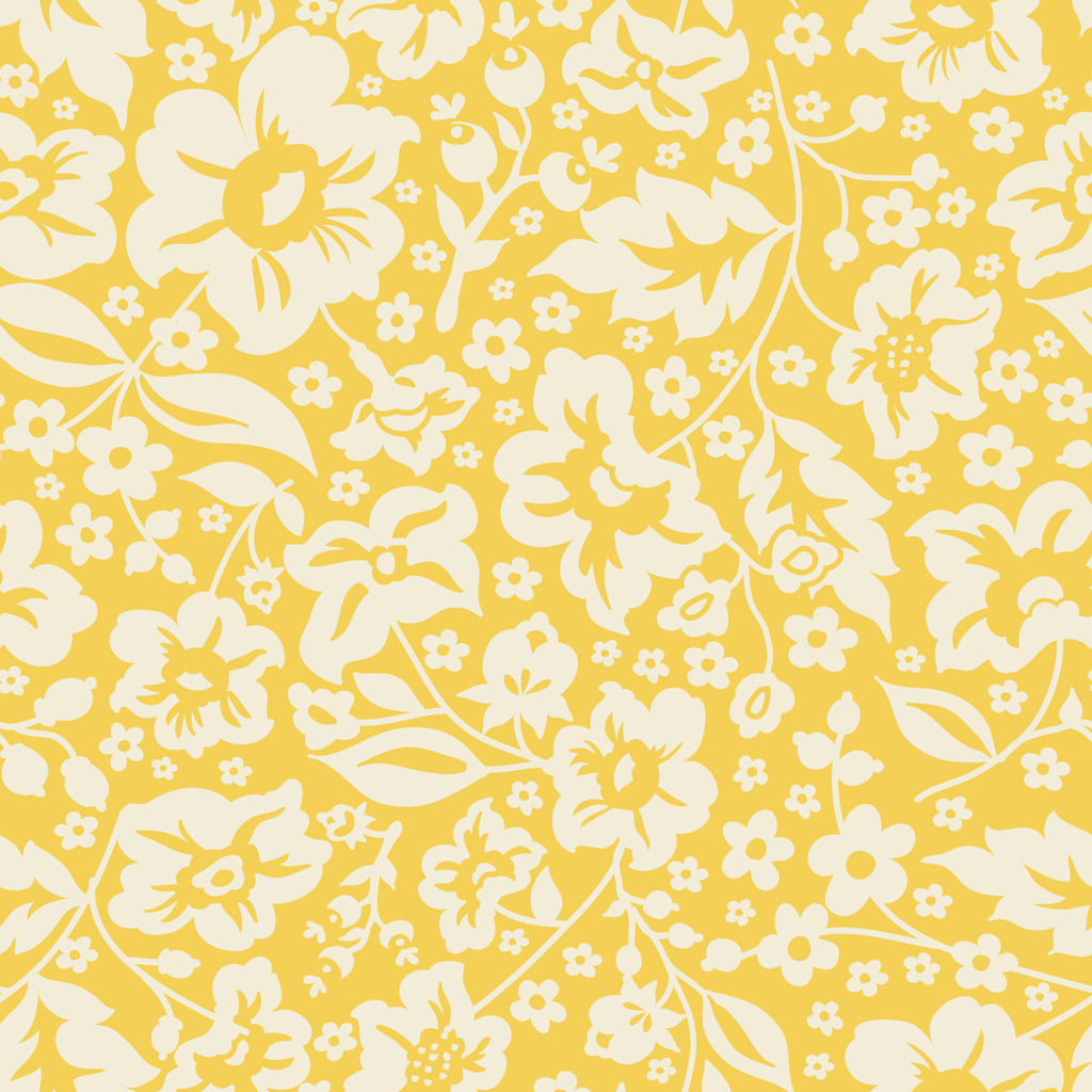 yellow floral pattern - photo #4