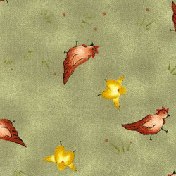 Red Rooster Fabrics Happily Ever After Happily Ever After GREEN #17129-GRE1 GREEN by Jacqueline  Paton