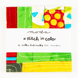 Moda A Stitch in Color Charm Pack by Malka Dubrawsky