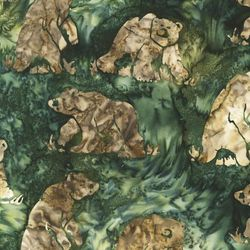 Robert Kaufman Fabrics Artisan Batiks: Northwoods AMD-7307-29 HUNTER by   Lunn Studios
