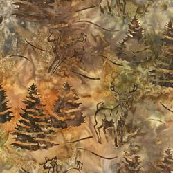Robert Kaufman Fabrics Artisan Batiks: Northwoods AMD-7336-165 COPPER by   Lunn Studios