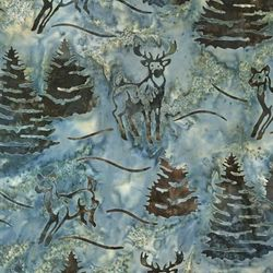 Robert Kaufman Fabrics Artisan Batiks: Northwoods AMD-7336-231 NIGHTFA by   Lunn Studios