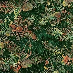Robert Kaufman Fabrics Artisan Batiks: Northwoods AMDM-7395-240 HOLLY by   Lunn Studios