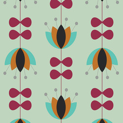 Art Gallery Fabrics Nordika Tulip Vines Mint by Jeni Baker