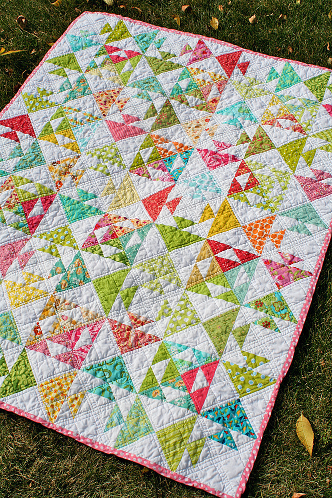Kissing Fish baby quilt by Freshly Pieced