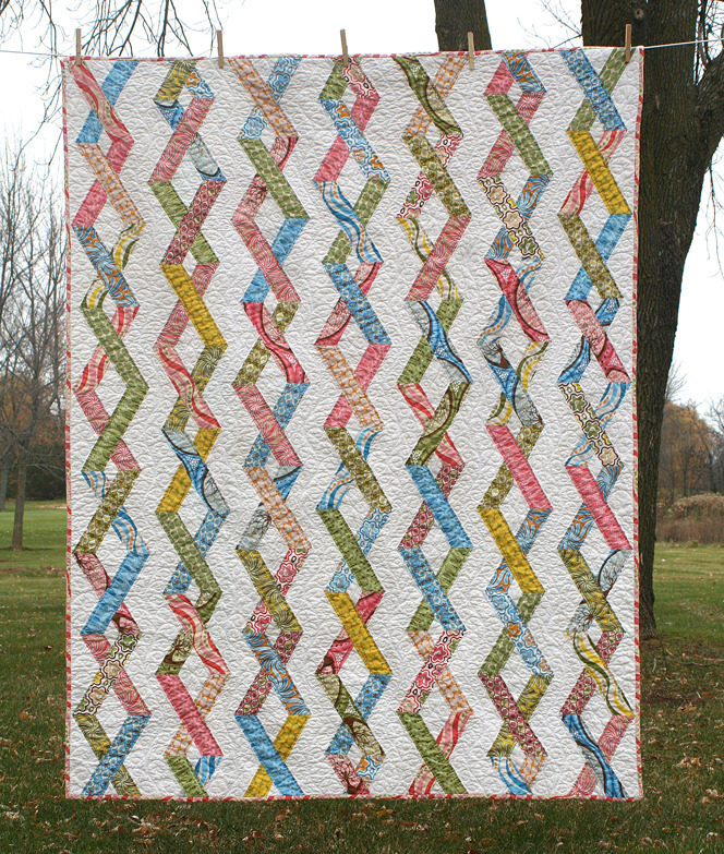 Chain Reaction Quilt by Freshly Pieced