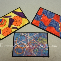 First Quilted Postcards