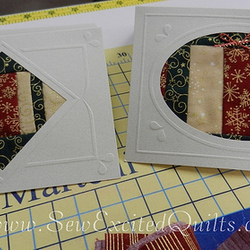 Fabric Christmas Cards