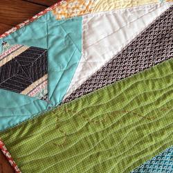 Fly A Kite Improv Mini Quilt