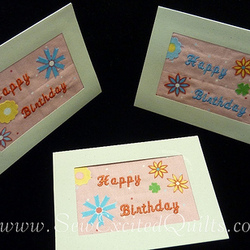 Fabric Birthday Cards