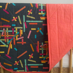 Miss Washi Tape Quilted Blanket