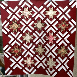 French General Boxed Christmas Stars Quilt