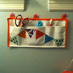 Wall Pocket with Bunting