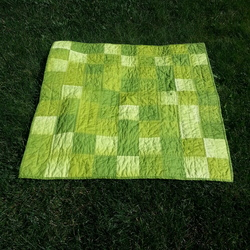 Green ombre baby quilt