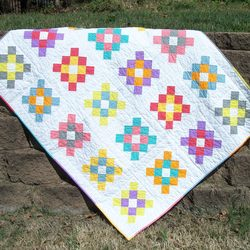 Granny Square throw quilt