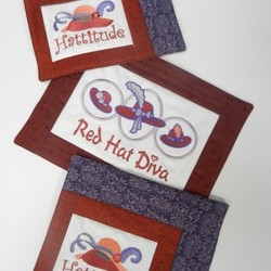 Red Hat Ladies Mug Rugs