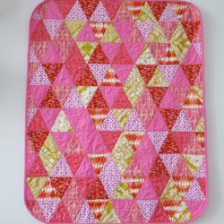 Pink Triangles Baby Quilt