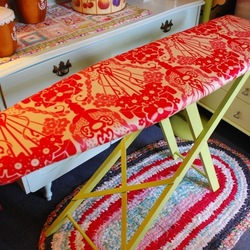 a thrifted ironing board